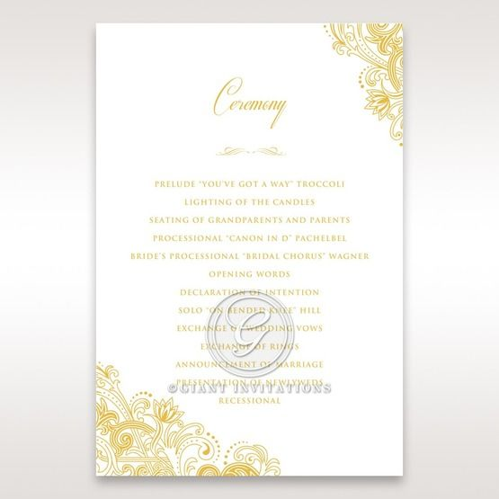 Imperial Glamour with Foil order of service DG116022-WH