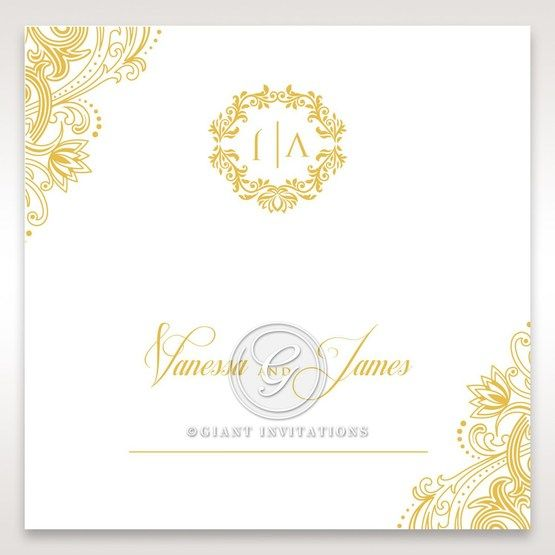 Imperial Glamour with Foil place card DP116022-WH