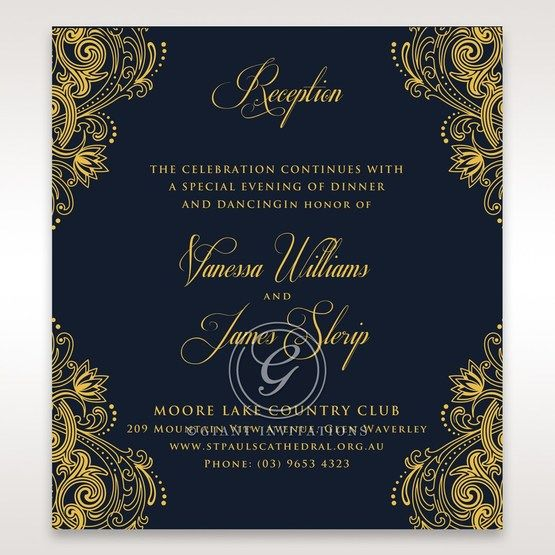 Imperial Glamour with Foil reception card DC116022-NV-F