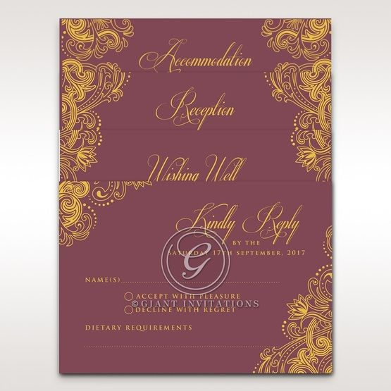 Imperial Glamour with Foil rsvp card DV116022-MS-F_2