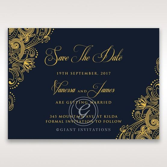 Imperial Glamour with Foil save the date DS116022-NV-F