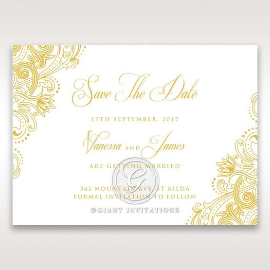 Imperial Glamour with Foil save the date DS116022-WH