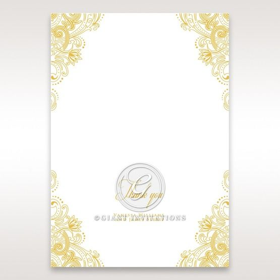 Imperial Glamour with Foil thank you card DY116022-WH