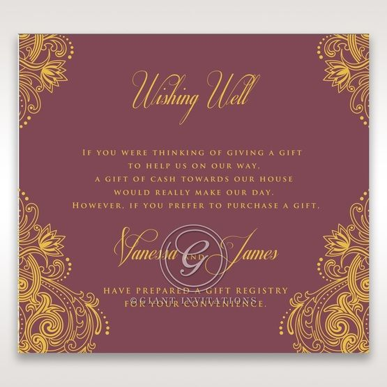 Imperial Glamour with Foil wishing well card DW116022-MS-F