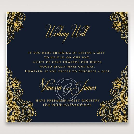 Imperial Glamour with Foil wishing well card DW116022-NV-F