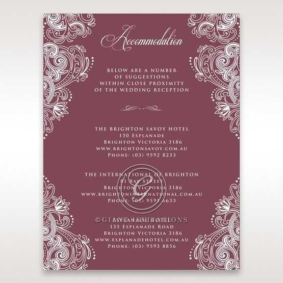 Imperial Glamour without Foil accommodation card DA116022-MS-D