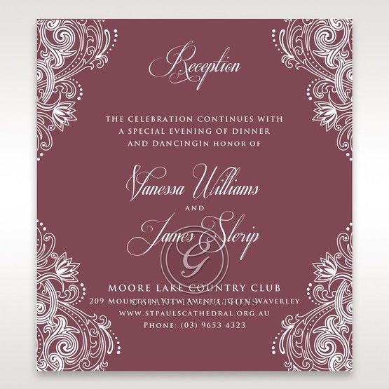 Imperial Glamour without Foil reception card DC116022-MS-D