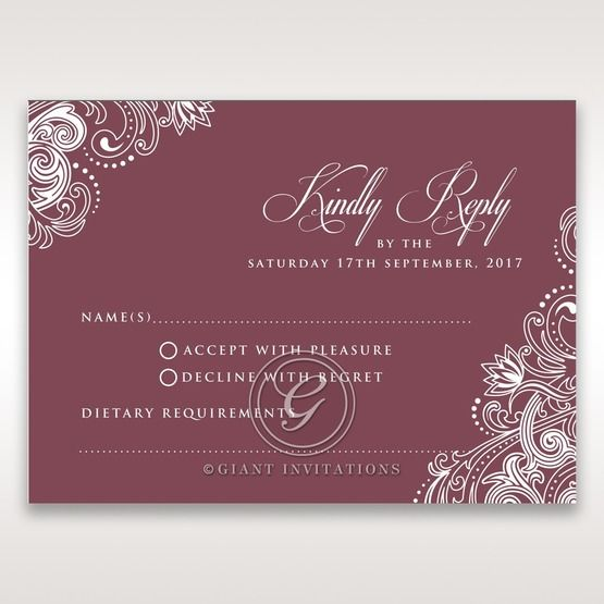 Imperial Glamour without Foil rsvp card DV116022-MS-D