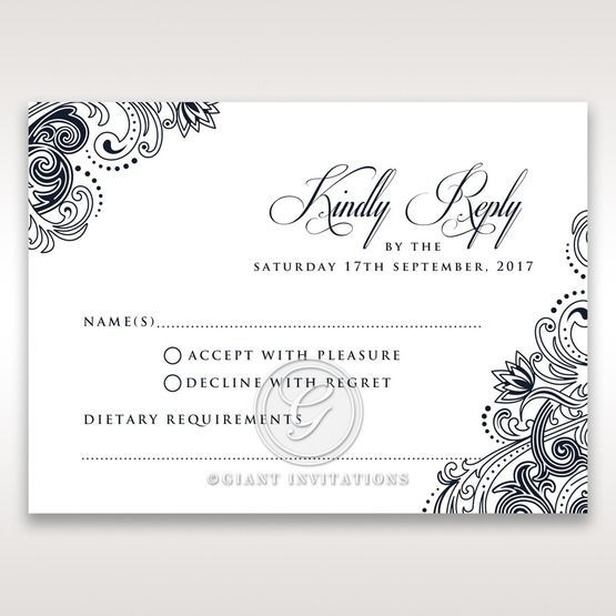 Imperial Glamour without Foil rsvp card DV116022-NV-D