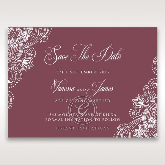 Imperial Glamour without Foil save the date DS116022-MS-D