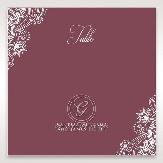 Imperial Glamour without Foil table number card DT116022-MS-D
