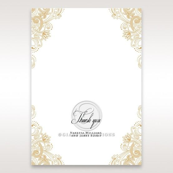 Imperial Glamour without Foil thank you card DY116022-DG