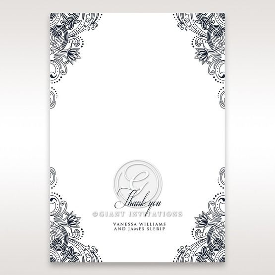Imperial Glamour without Foil thank you card DY116022-NV-D
