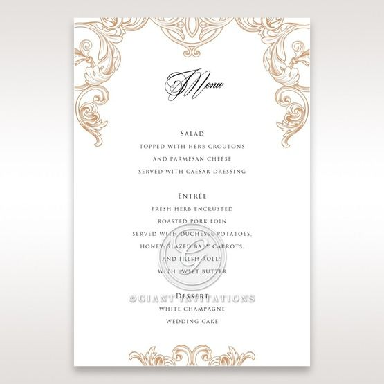 Imperial Pocket menu card DM11019