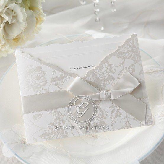 Silver/Gray Enchanted Floral Pocket III - Wedding invitation - 44