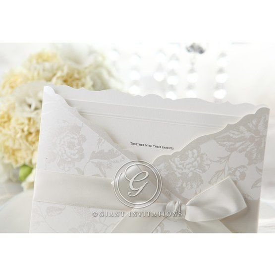 Silver/Gray Enchanted Floral Pocket III - Wedding invitation - 45