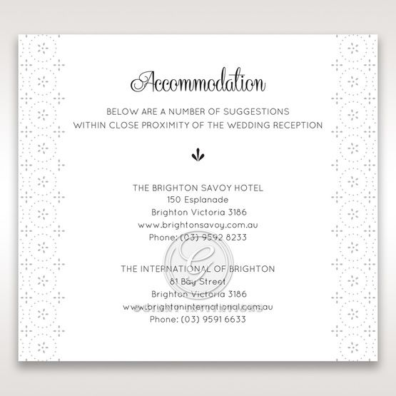 Laser Cut Button accommodation card DA15102