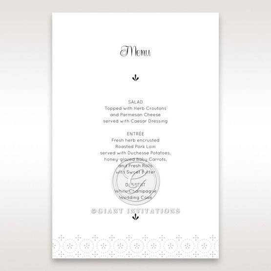 Laser Cut Button menu card DM15102
