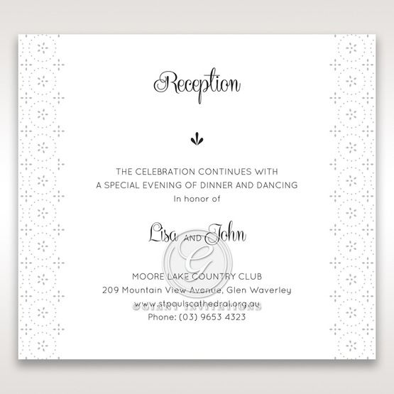 Laser Cut Button reception card DC15102