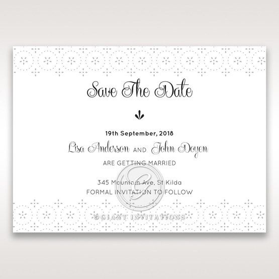 Laser Cut Button save the date DS15102