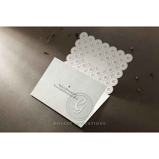 Laser Cut Button wedding invitations HB15102_7