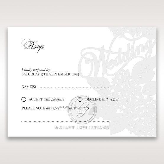 Laser Cut Floral Wedding rsvp card DV15086