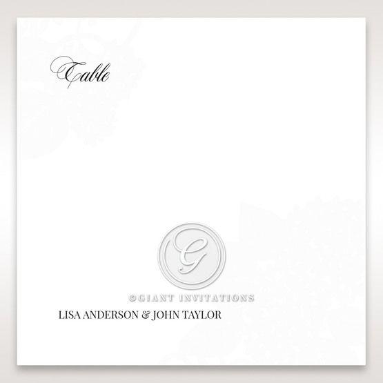 Laser Cut Floral Wedding table number card DT15086