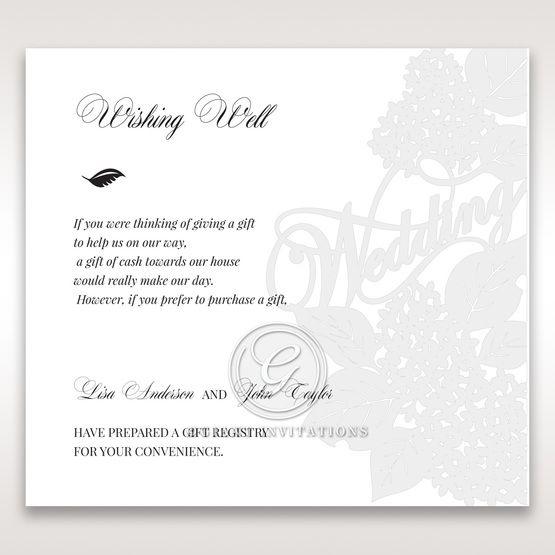 Laser Cut Floral Wedding wishing well card DW15086