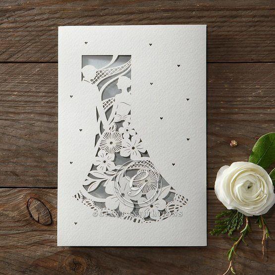 Laser Cut Love wedding invitations HB14130