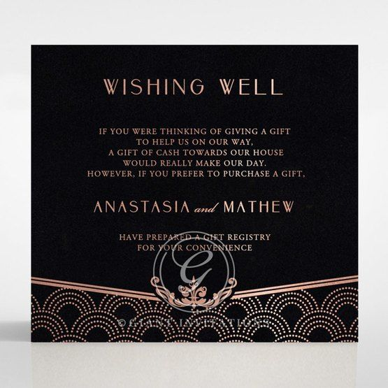 Luxe Victorian wishing well card DW116074-GK-RG