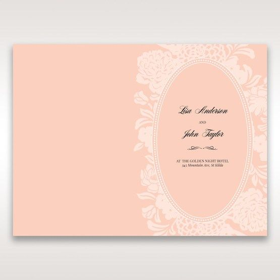 Pink Rustic Garden Laser Cut Pocket - Menu Cards - Wedding Stationery - 26