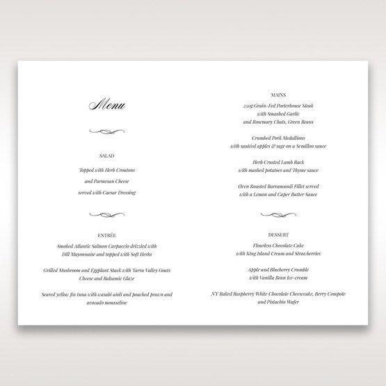 Purple Laser Cut Frame Pocket - Menu Cards - Wedding Stationery - 33