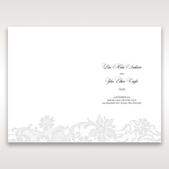 White Black Laser Cut Wrap with Ribbon - Menu Cards - Wedding Stationery - 66