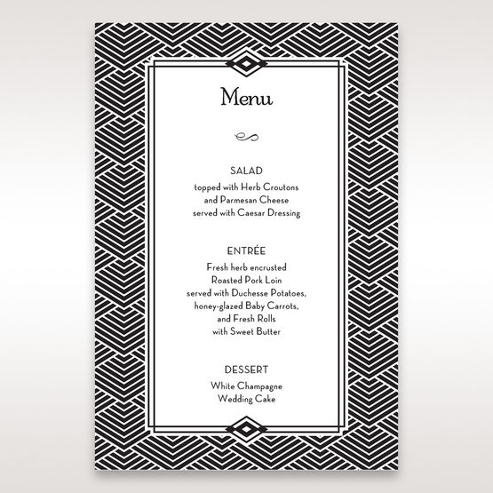 Yellow/Gold Dazzling Gold Foil Stamped - Menu Cards - Wedding Stationery - 58