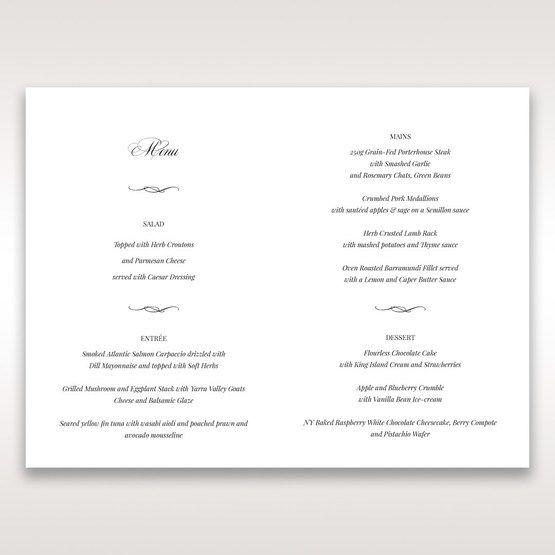 Purple Laser Cut Forest 3D Pocket - Menu Cards - Wedding Stationery - 99