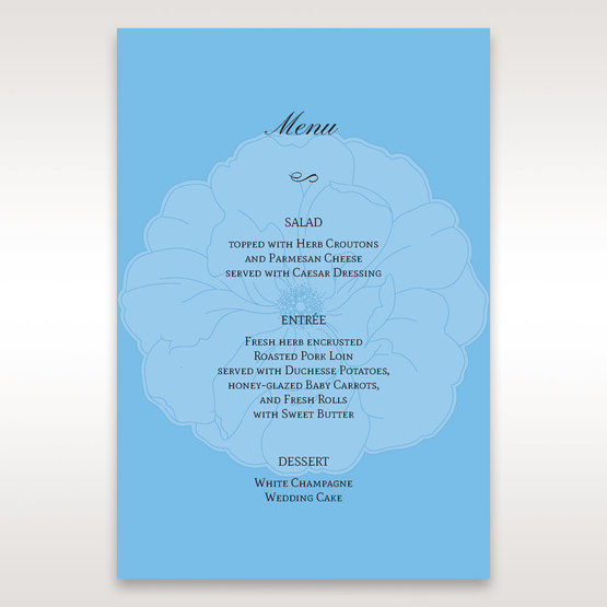 Blue Urban Flower Handcrafted - Menu Cards - Wedding Stationery - 63