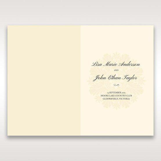 Brown Embossed Swirls Hard Layer - Menu Cards - Wedding Stationery - 87