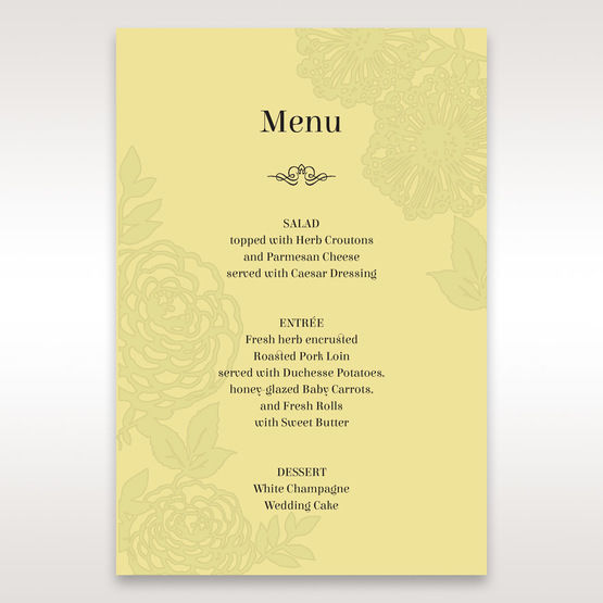 Green Magical Garden - Menu Cards - Wedding Stationery - 51