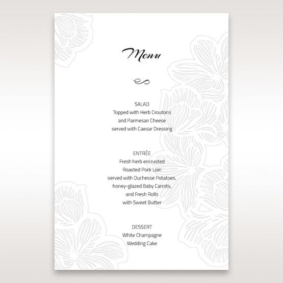Orange Laser Cut Flower Frame - Menu Cards - Wedding Stationery - 45