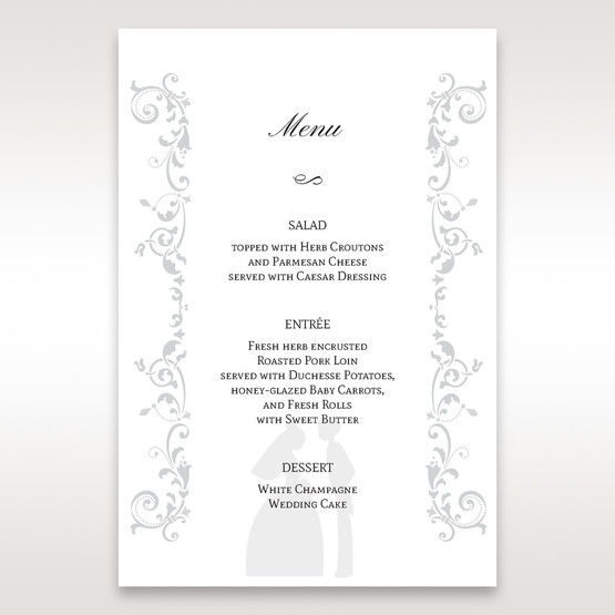 White Promise - Menu Cards - Wedding Stationery - 7