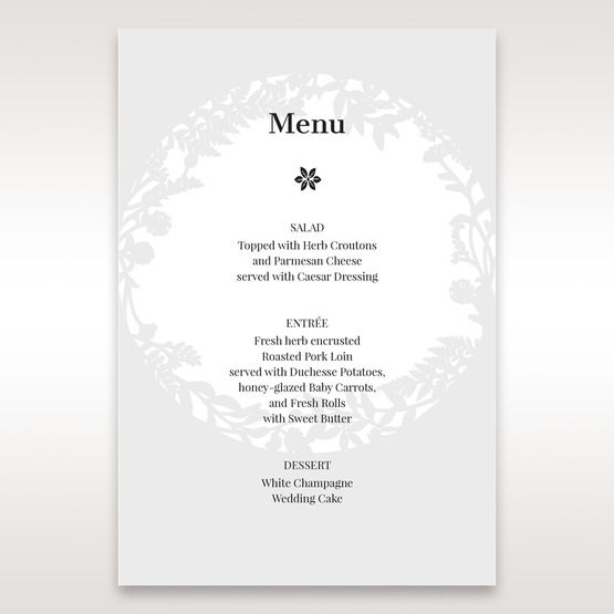 White Enchanted Forest I Laser Cut P - Menu Cards - Wedding Stationery - 53