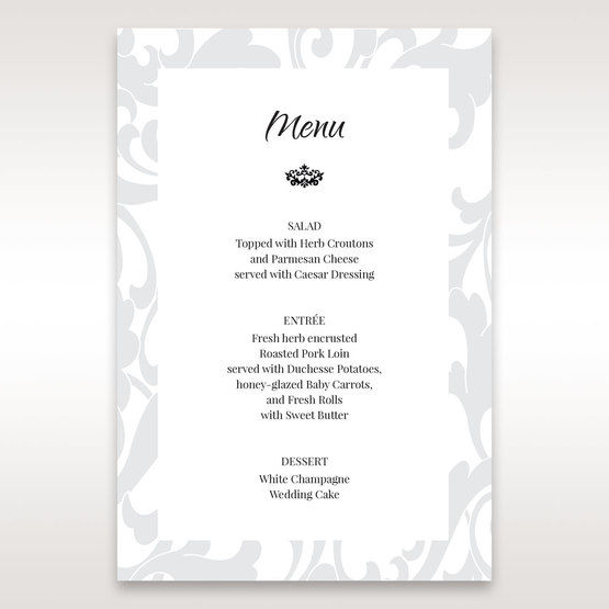 Blue Laser Scrolling Grandeur Layered Laser Cut - Menu Cards - Wedding Stationery - 34