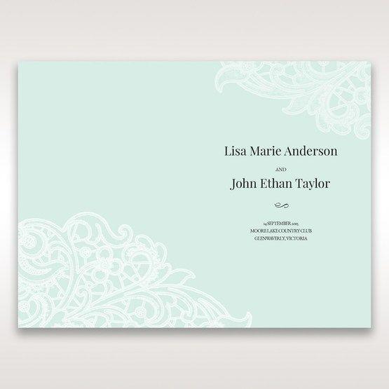 Blue Gatefold Floral Laser Cut - Menu Cards - Wedding Stationery - 7