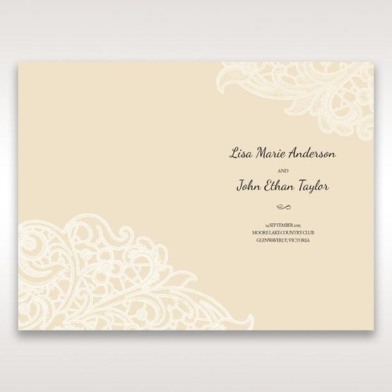 Yellow/Gold Laser Cut Floral Pocket - Menu Cards - Wedding Stationery - 13