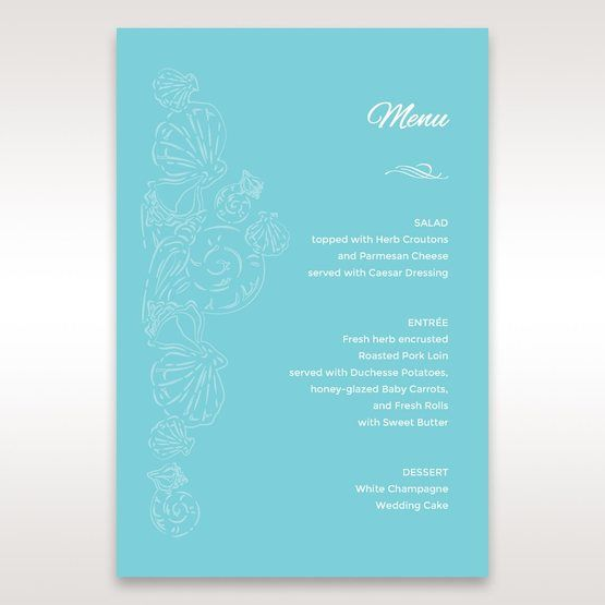 Green Ocean Frame I Laser Cut - Menu Cards - Wedding Stationery - 31