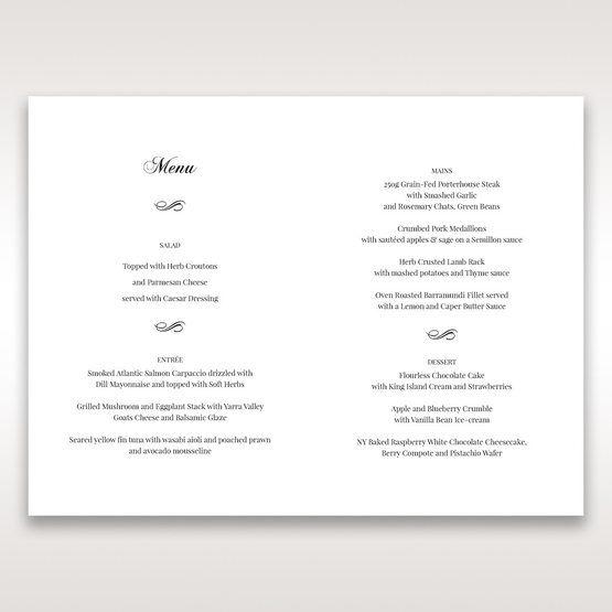 White Modern Pocket-Grey - Menu Cards - Wedding Stationery - 26