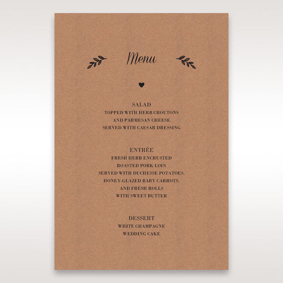 Brown Rustic - Menu Cards - Wedding Stationery - 59