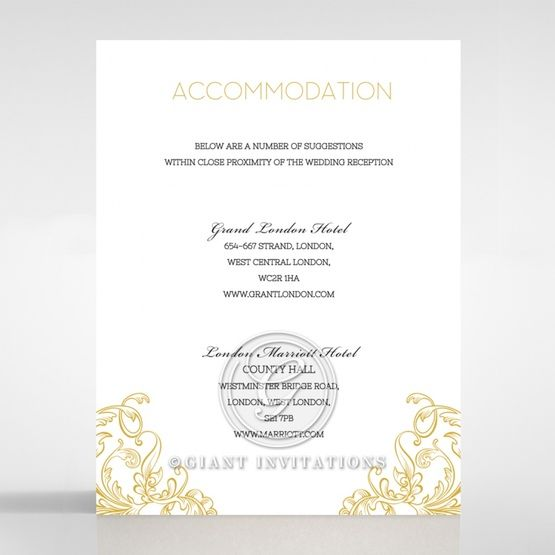 Modern Crest accommodation card DA116122-DG