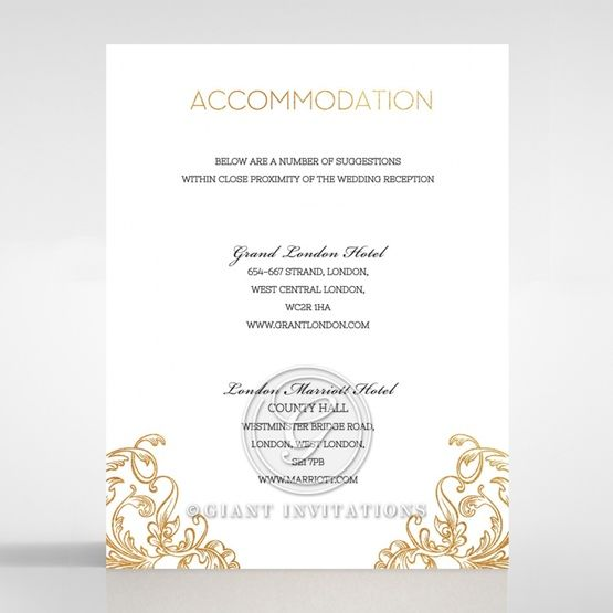 Modern Crest accommodation card DA116122-KI-GG