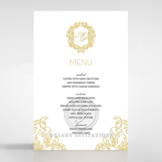 Modern Crest menu card DM116122-DG